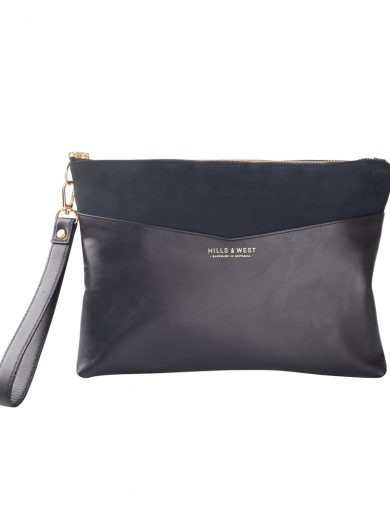 Black Navy Clutch Bag