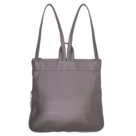 Grey Backpack Handmade Bag
