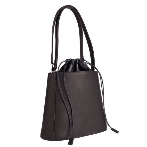 Black Bucket Bag Handmade