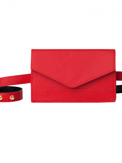 Red Belt Bag Handmade