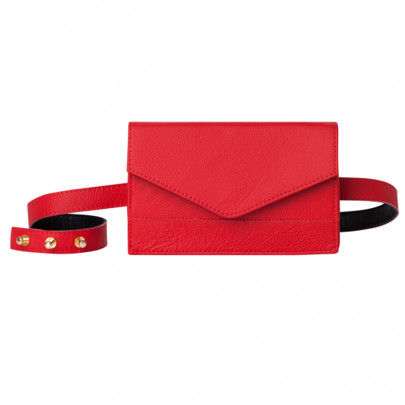 Red Belt Bag Handmade