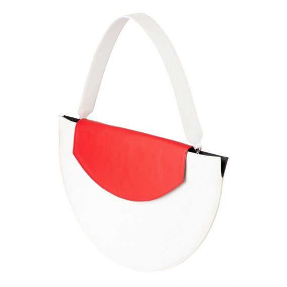 White Red Clutch Bag