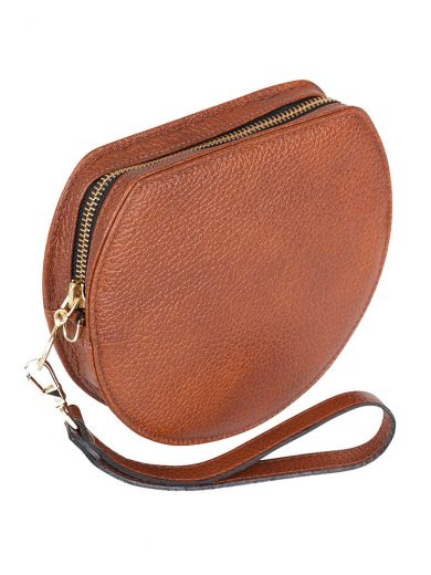 Tan Wristlet Clutch Mini