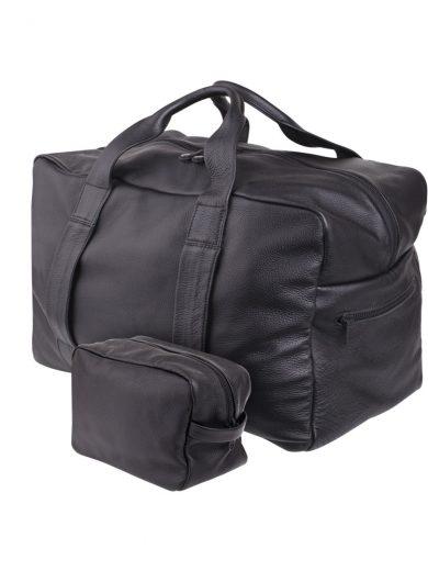 Black Weekender Handmade Bag