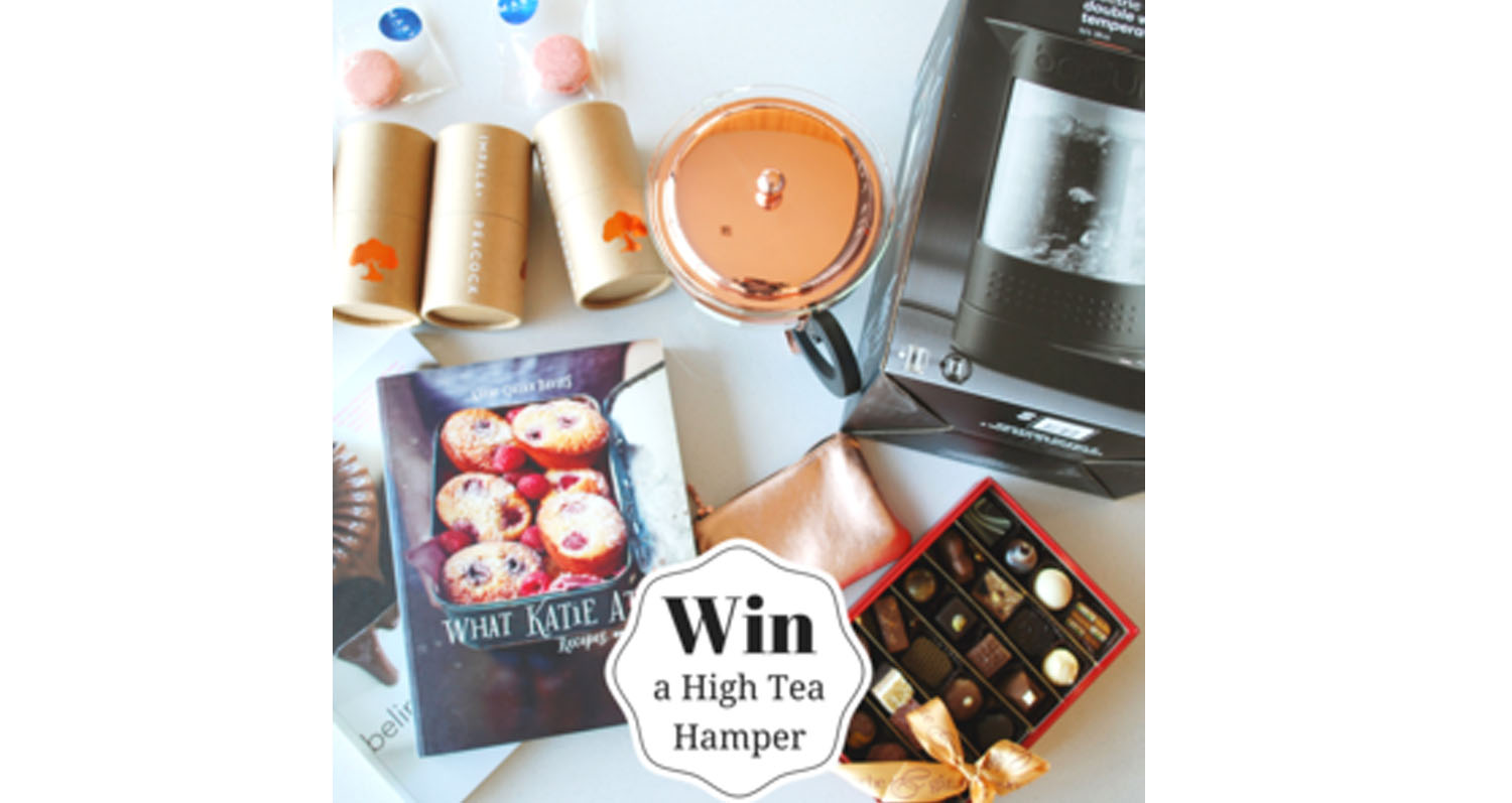 Win a fabulous high tea hamper with our new shiny rosegold petite purse