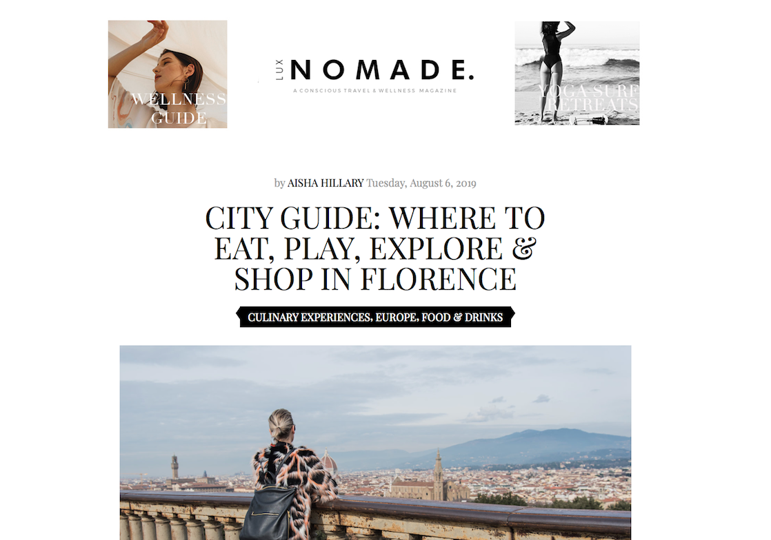 EAT, PLAY, EXPLORE & SHOP – Florence