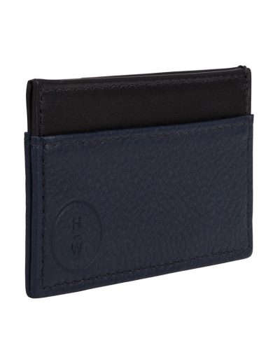 Navy and Black Cardholer Men